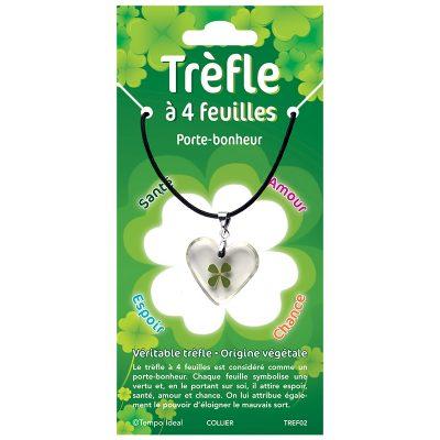 TREF - Trèfle à 4 feuilles - Pendentifs et bracelets