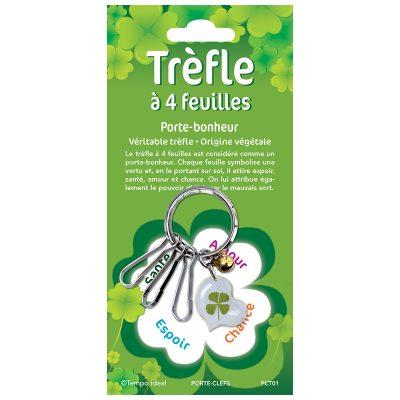 PCT - Trèfle à 4 feuilles - Porte-clefs